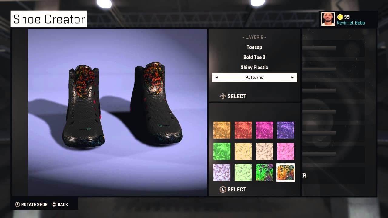 nba 2k15 shoes youtube