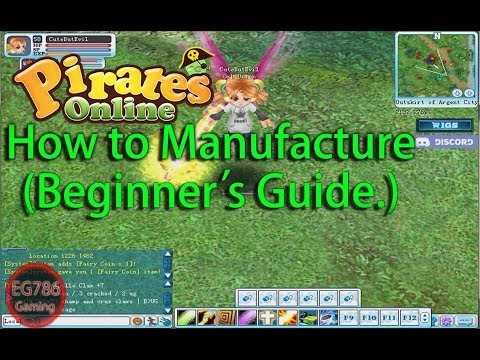 Pirates Online - How To Manufacture (Beginner's Guide.)