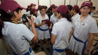 President Faust Visits the JB Petit High School for Girls, in Mumbai, India