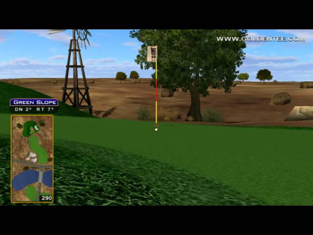 Golden Tee Great Shot on Dusty Bend! Travel Video