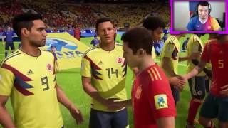 ESPAÑA VS COLOMBIA EN LA SEMIFINAL DE RUSIA 2018 - FIFA 18 WORLD CUP