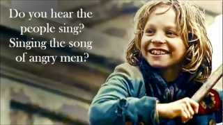 les miserables gavroches parts two songs lyrics on screen