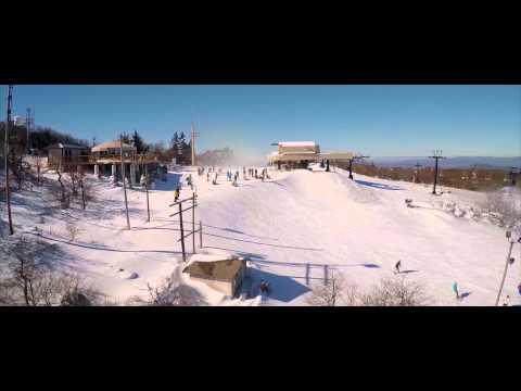 Beech Mountain Resort Aerial Video 1-10-15