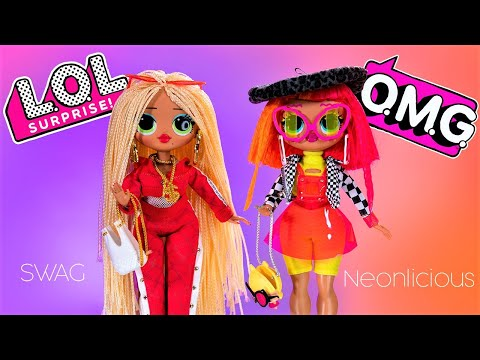 UNBOXING LOL SURPRISE OMG FASHION DOLLS! Neonlicious Swag Royal Bee & Lady Diva COMPLETE COLLECTION!