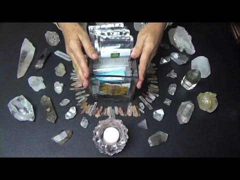 ASMR Seed Sorting and Life Force Crystal Grid 🌱 🌱 🌱