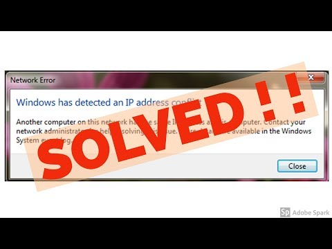 Fix Windows Has Detected An Ip Address Conflict Error In Windows
