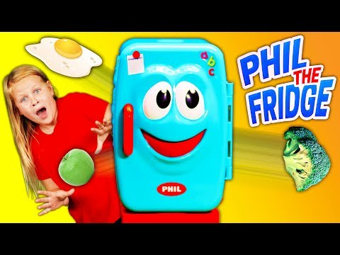 Phil the Fridge Game with the Assistant Playing with PJ Masks and Vampirina