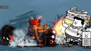 The Battle Cats - vs Akuma, Sekia Goshoha (No Cyberpunk / No Freeze combo)