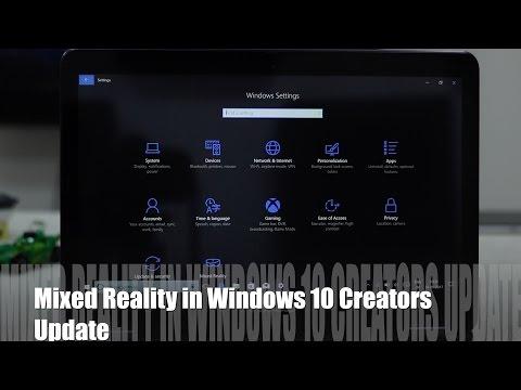 Windows 10 Mixed Reality Settings in Windows 10 Creators Update