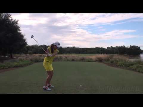 HEE YOUNG PARK   DRIVER BALL FLIGHT DTL GOLF SWING   LATE 2013 REG & SLOW MOTION   1080p HD