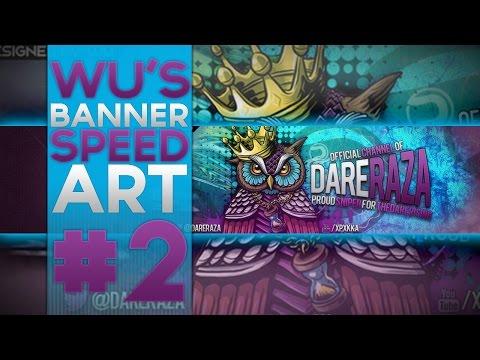 Wu's Banner SpeedArt #2 | @DareRaza