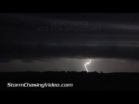 8/13/2015 Central MN Overnight Lightning & Hail B-Roll