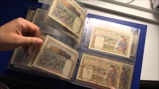 ma collection des billets algeriens collection of algerian banknotes