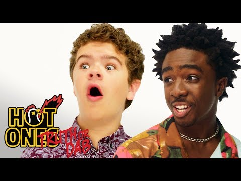 stranger-things'-caleb-mclaughlin-and-gaten-matarazzo-play-truth-or-dab-|-hot-ones