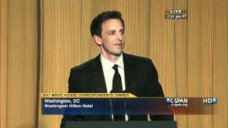 seth meyers at the 2011 white house correspondents dinner