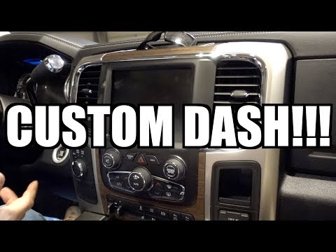 MUCH BETTER THAN A IPAD DASH!!!!! CUMMINS CUSTOM DASH!!!