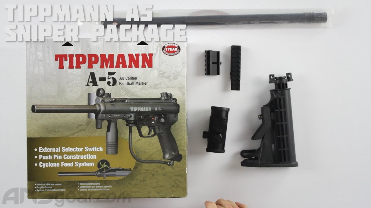 Tippmann A5 Sniper Package Review Youtube