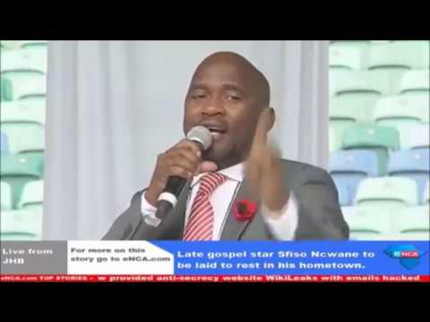Pastor S Zondo Speaks at Sfiso Ncwane's Funeral
