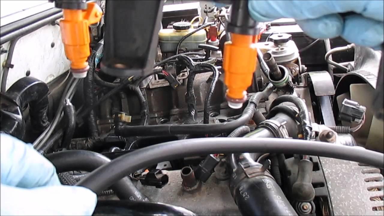 fuel injector install ford explorer 4 0l sohc part 1 [ 1280 x 720 Pixel ]