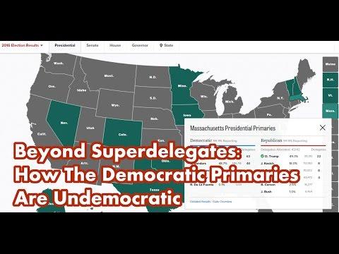 Beyond Super-Delegates - How The Democratic Primaries Are Undemocratic