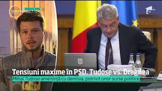 Tensiuni în PSD. Premierul Mihai Tudose ar dori să demisioneze!