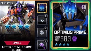 4 STAR OPTIMUS PRIME BUNDLE OPENING + RANK UP! - TRANSFORMERS : Forged To Fight
