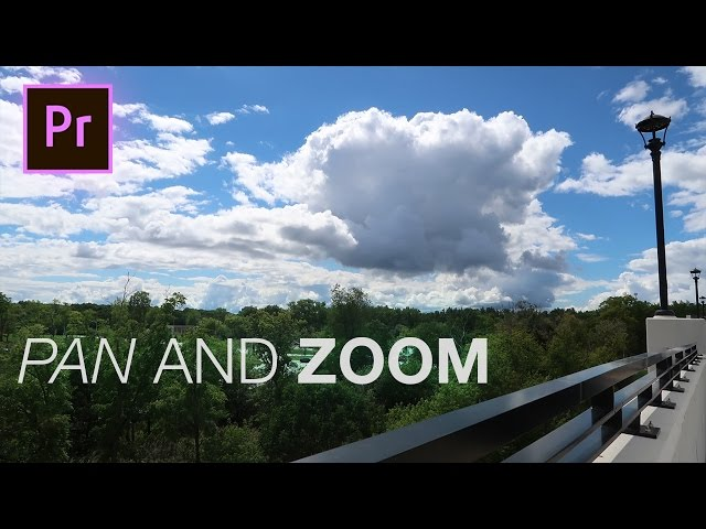 How to Fake Camera Pan and Zoom Shots in Adobe Premiere Pro (CC 2017 Tutorial)