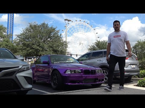 SPECIAL GUEST MICAH DIAZ CAME BY TO CHECK OUT MY E36 DRIFTCAR!