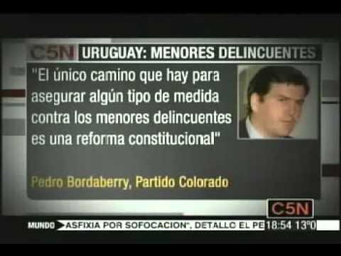 C5N BAJA DE EDAD DE IMPUTABILIDAD EN URUGUAY