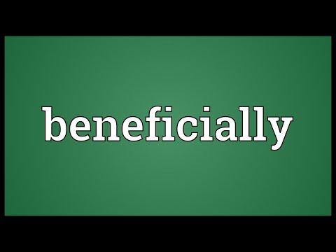 Header of beneficially