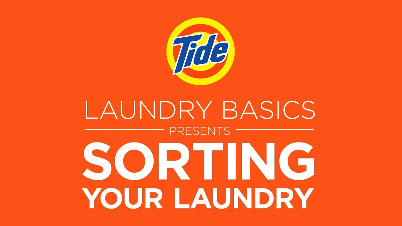How to separate laundry and sort clothes | Tide