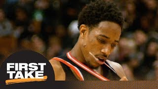 DeMar DeRozan or Raptors: First Take debates which side is right after trade | First Take | ESPN