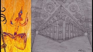 Meenakshi Temple - Thousand Pillar Hall - Drawing