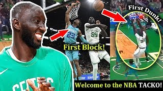 TACKO FALL First Dunk and First Block in Nba! | Celtics vs Hornets