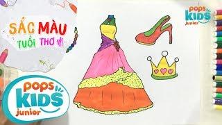 Sắc Màu Tuổi Thơ - Tập 43 - Bé Tập Vẽ Đầm Công Chúa | Glitter Princess Dress