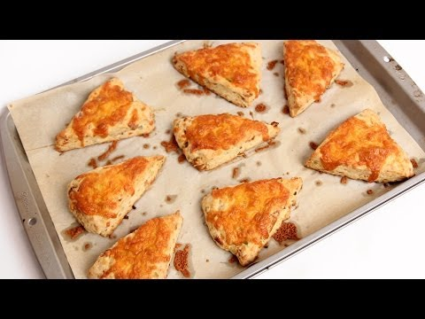 Cheddar Bacon Scones Recipe - Laura Vitale - Laura in the Kitchen Episode 767