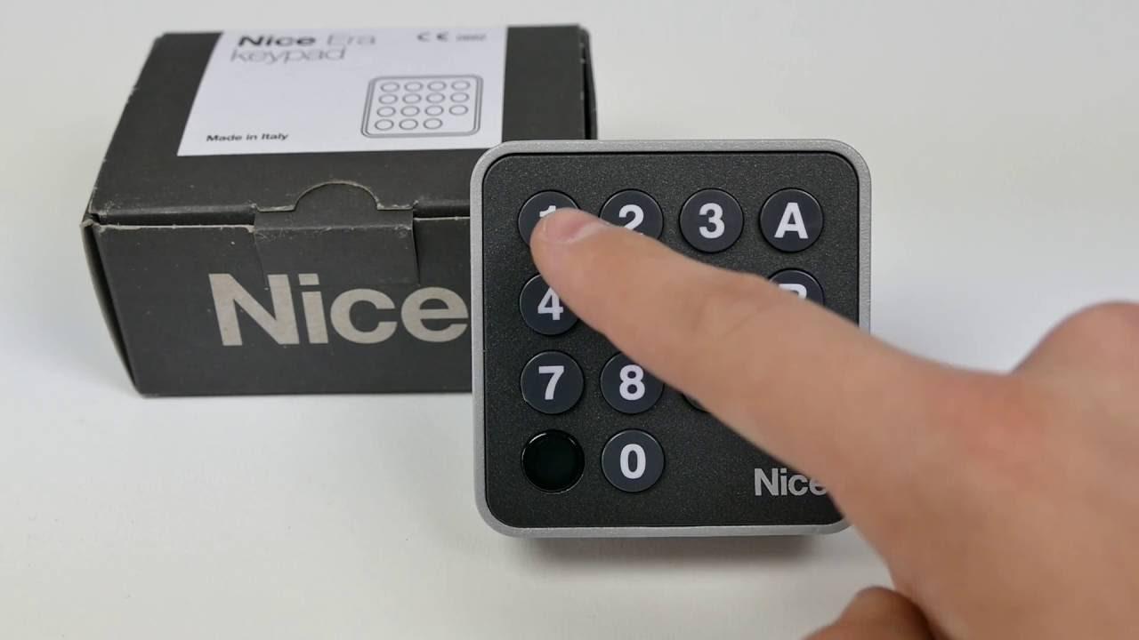 programmation d 39 un clavier a code nice edswg par habitat automatisme youtube. Black Bedroom Furniture Sets. Home Design Ideas