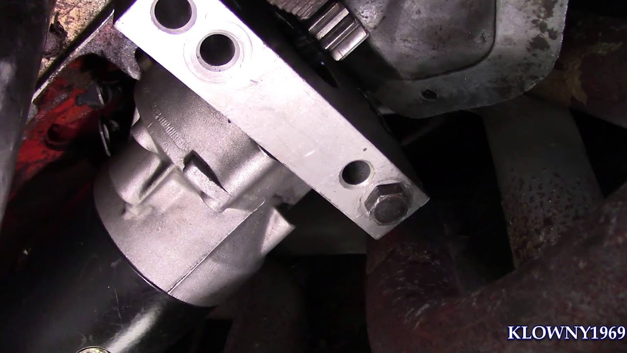 How to Drill and Tap a block for a 153 tooth starter