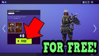 HOW TO GET SHOGUN SKIN FOR FREE! (Fortnite Old Skins)
