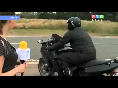 Видео, Мотоциклист разбился в прямом эфире