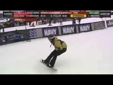 X Games: Gata Jamie Anderson É A Campeã Do Snowboard Slopestyle