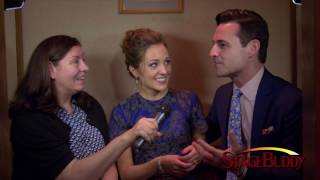 Laura Osnes and Max von Essen in the Broadway Confessional