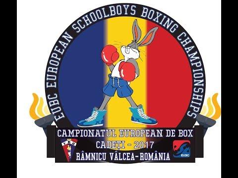 EUBC European Schoolboys Boxing Championships Valcea 2017 - Day 4 - Ring B - 21/07/2017 @ 16:00
