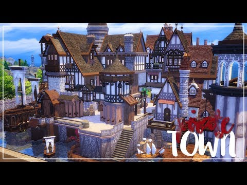 LOS SIMS 4 SPEED BUILD | PIRATE TOWN | EP.1