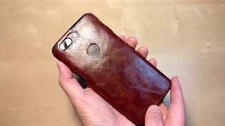 Oneplus 5T brown leather TPU case review