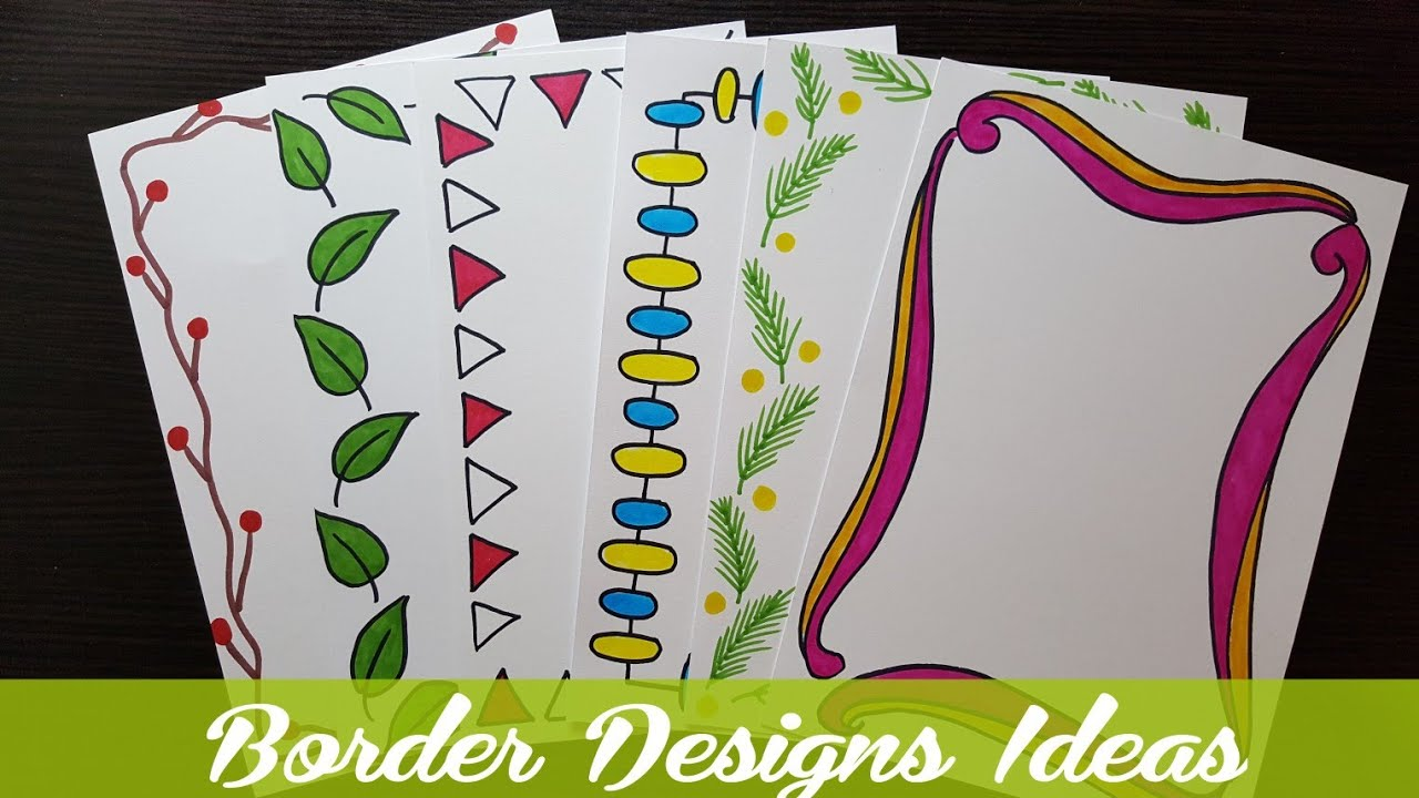 Easy Border Designs On Paper Border Designs Project Work