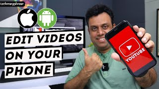 How to edit videos on your phone in hindi (FREE app for iPhone & Android)
