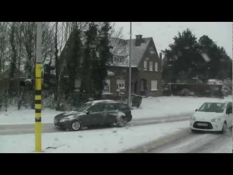 Wake up in Belgium in winter conditions