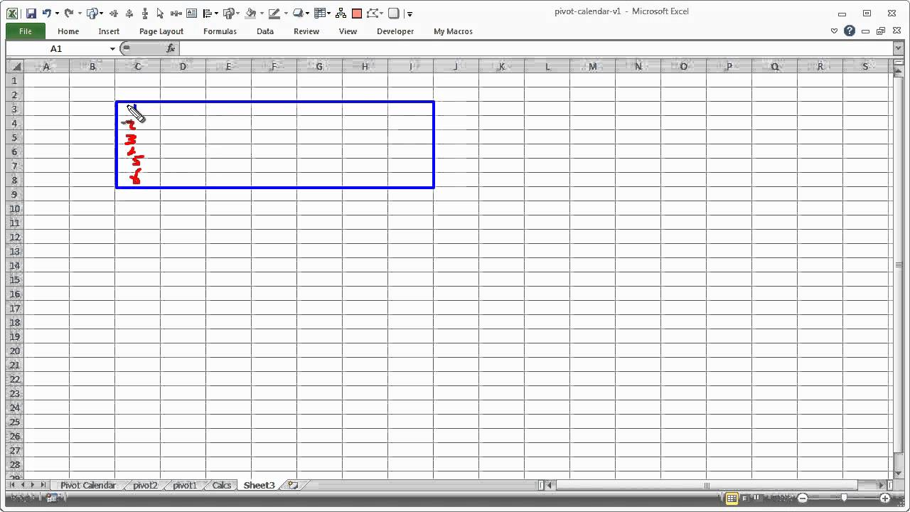 Pivot Calendar & Chart in Excel - Explained - YouTube