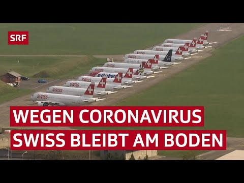 Flughafen Zürich – wo Flugzeuge wegen dem Coronavirus am Boden bleiben | Reportage | SRF News
